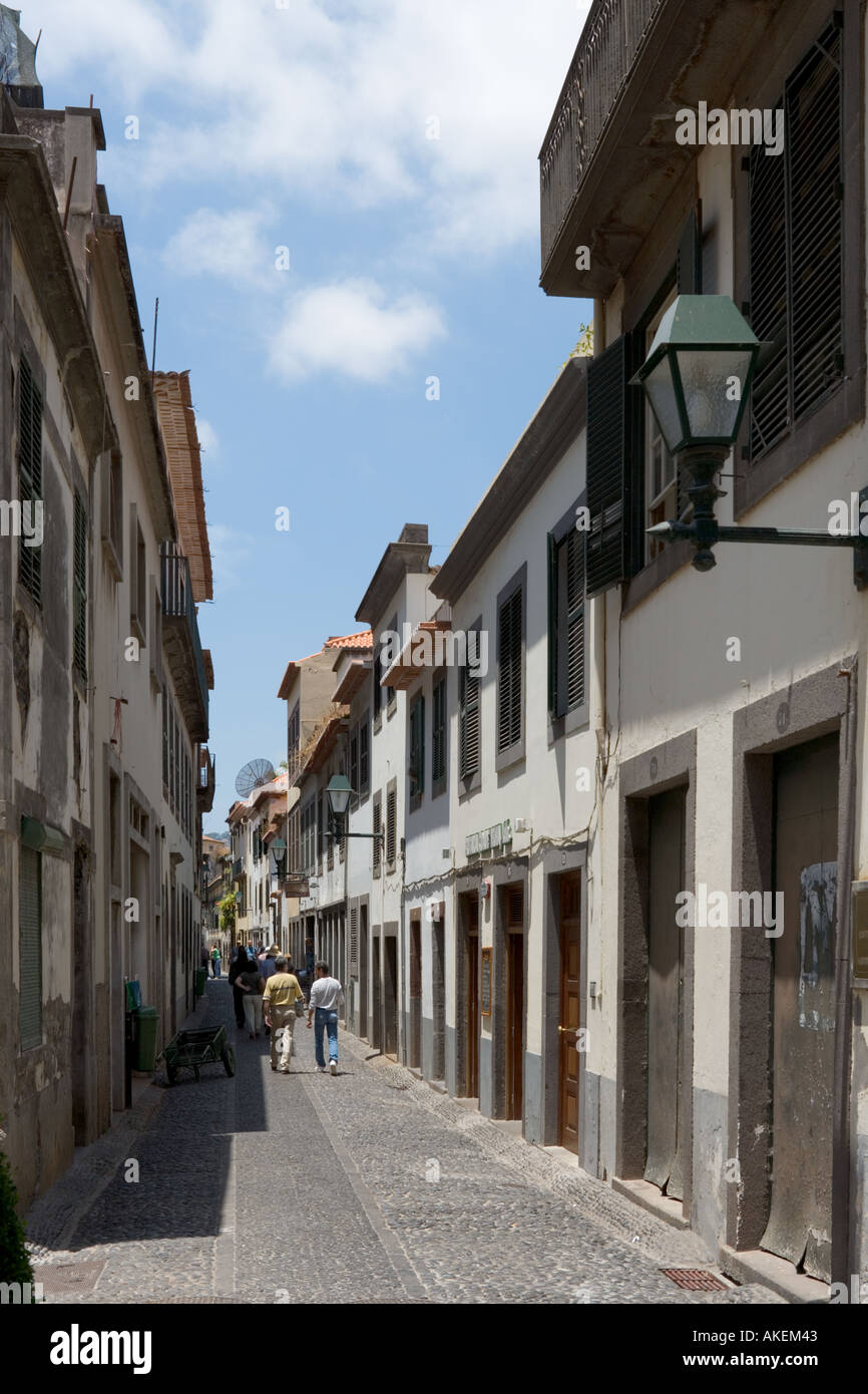 Street in the Old Town (Zona Velha), Funchal, Madeira, Portugal Stock Photo