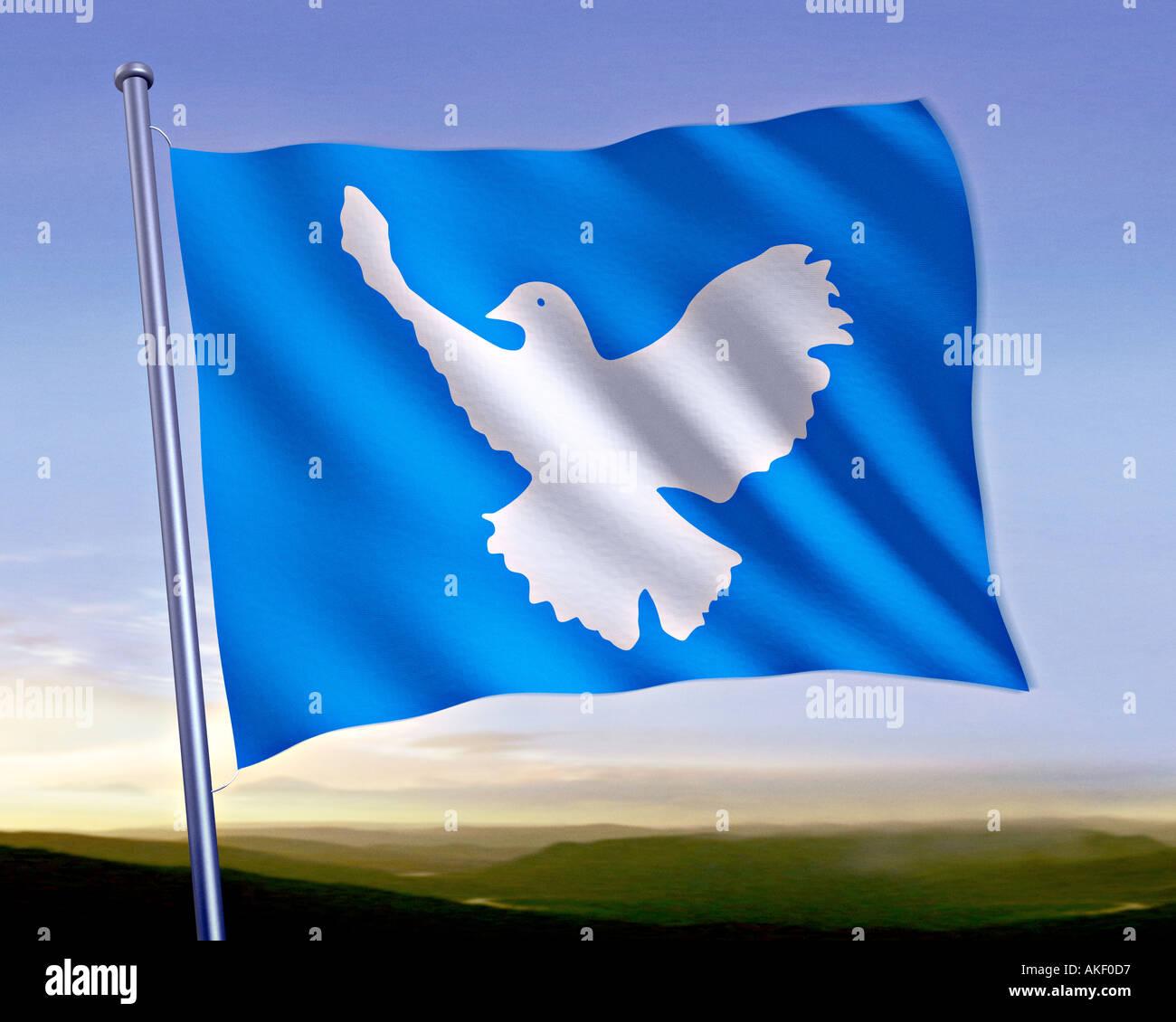 Flag Peace Pigeon Symbol Peace Stock Photos Flag Peace Pigeon