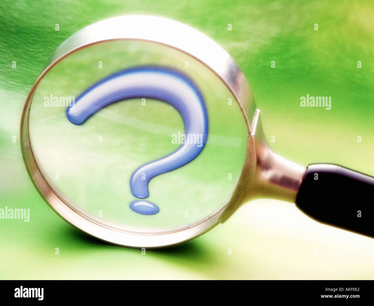 Magnifier With Question Mark Symbol Of Searching Investigation Stock