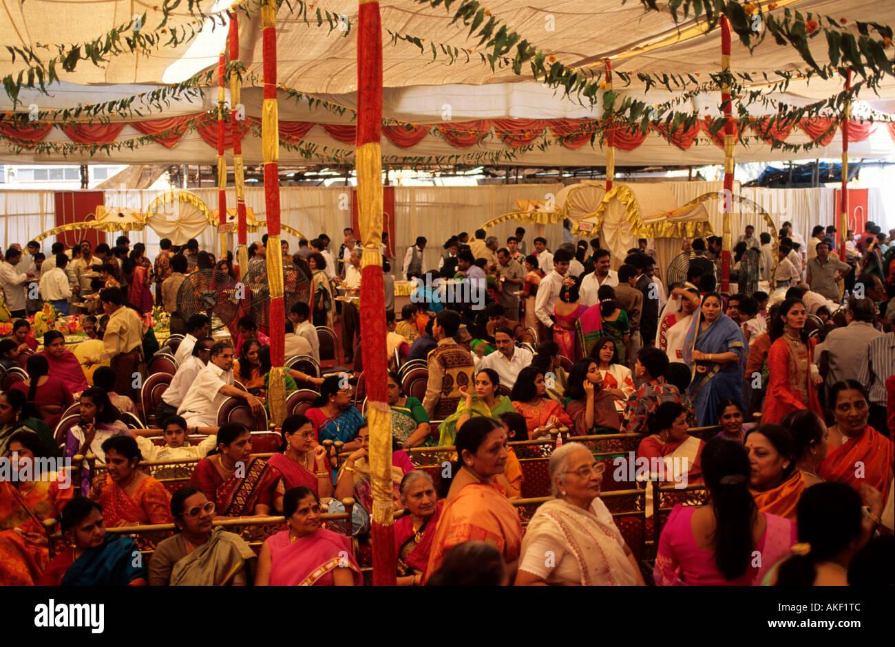 Indien, Mumbai, Hochzeitsfeier Stock Photo