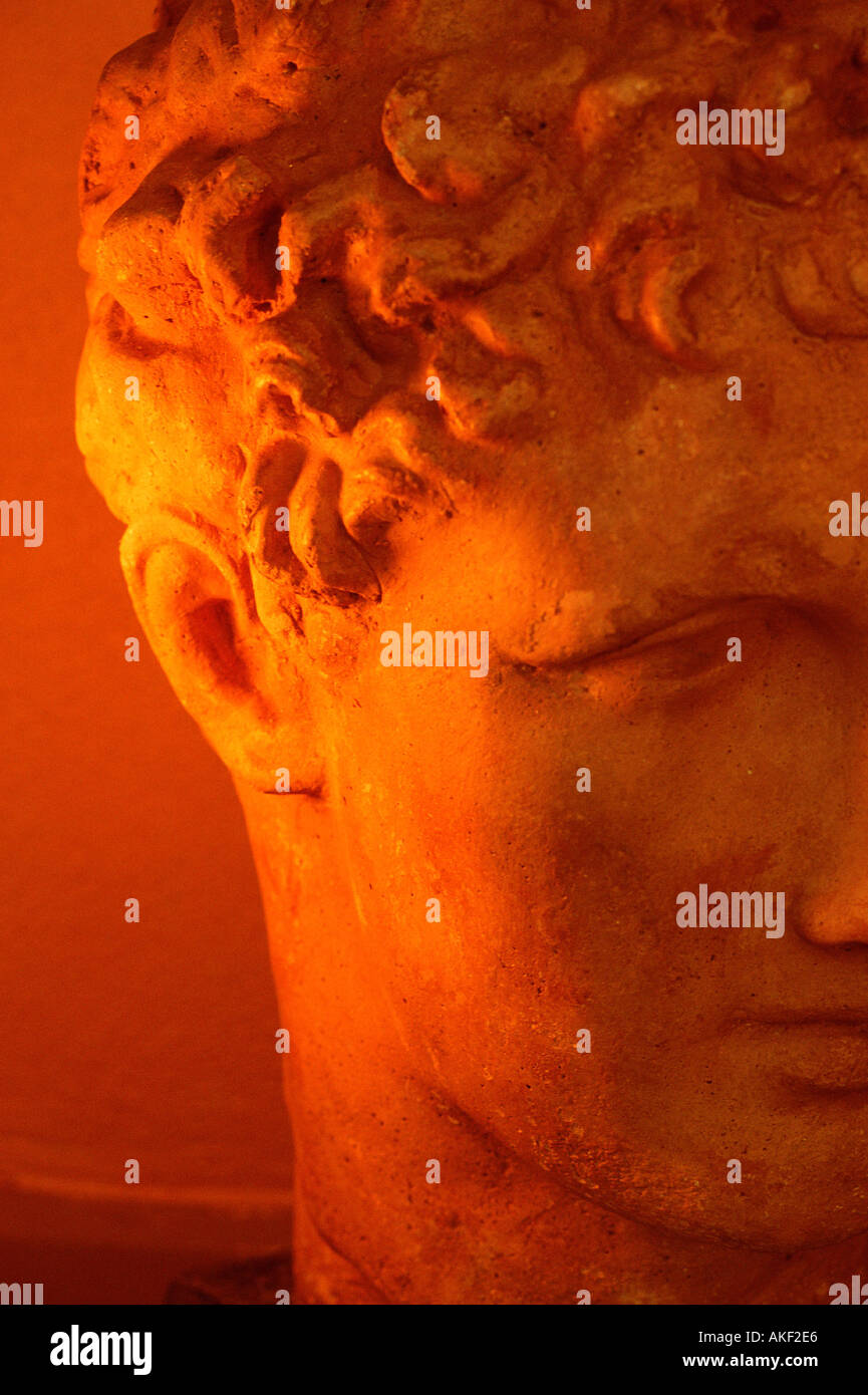 Head of classical statue - Stock Image