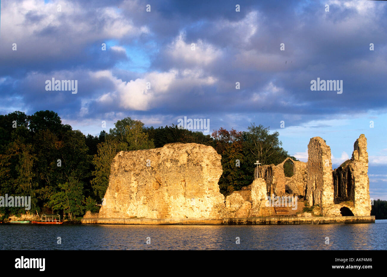 Lettland, Koknese an der Daugava, Ordensburg Stock Photo