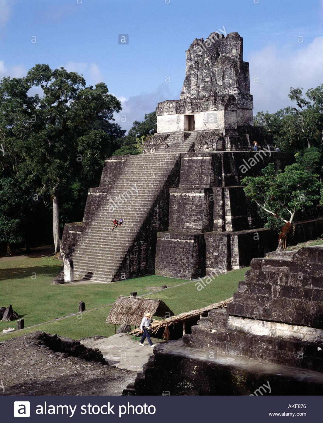 Peten, Tikal Mayan Ruins - Stock Image