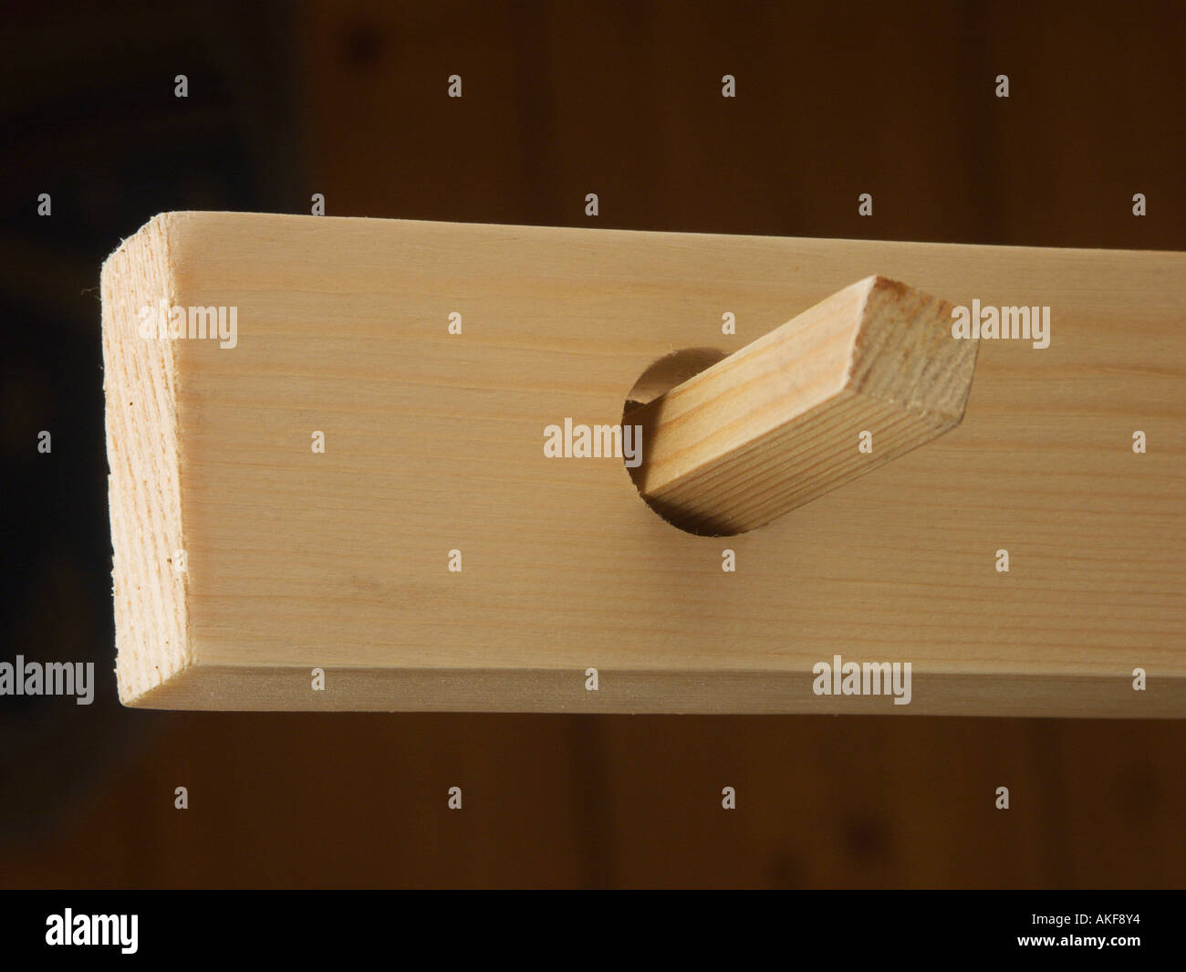 A square peg in a round hole - Stock Image