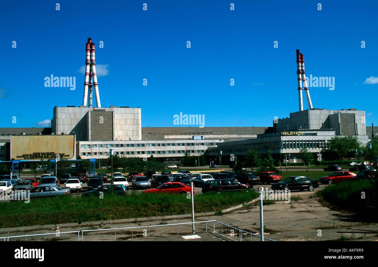 Osteuropa, Litauen, Visaginas, Kernkraftwerk Ignalina - Stock Image
