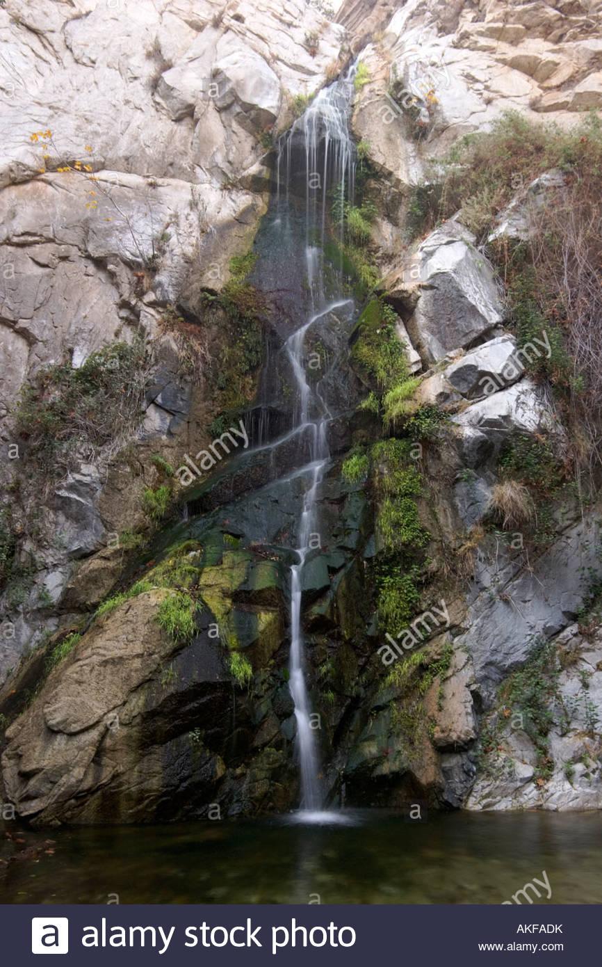 Sturtevant Falls Waterfall San Gabriel Mountains California - Stock Image