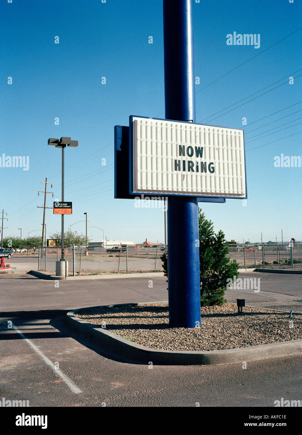 Now Hiring Arizona USA - Stock Image