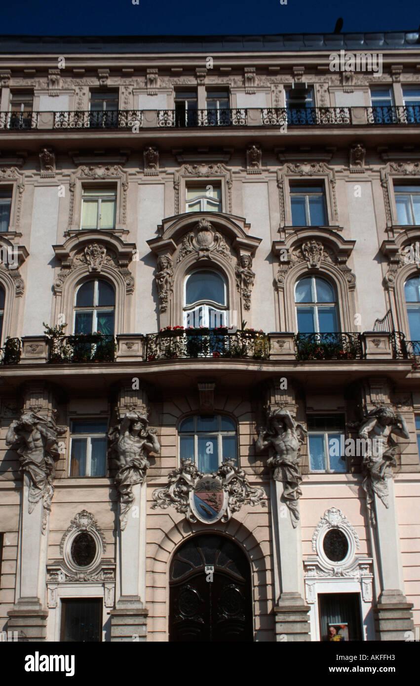 Wien VI, Linke Wienzeile, Architektur - Stock Image