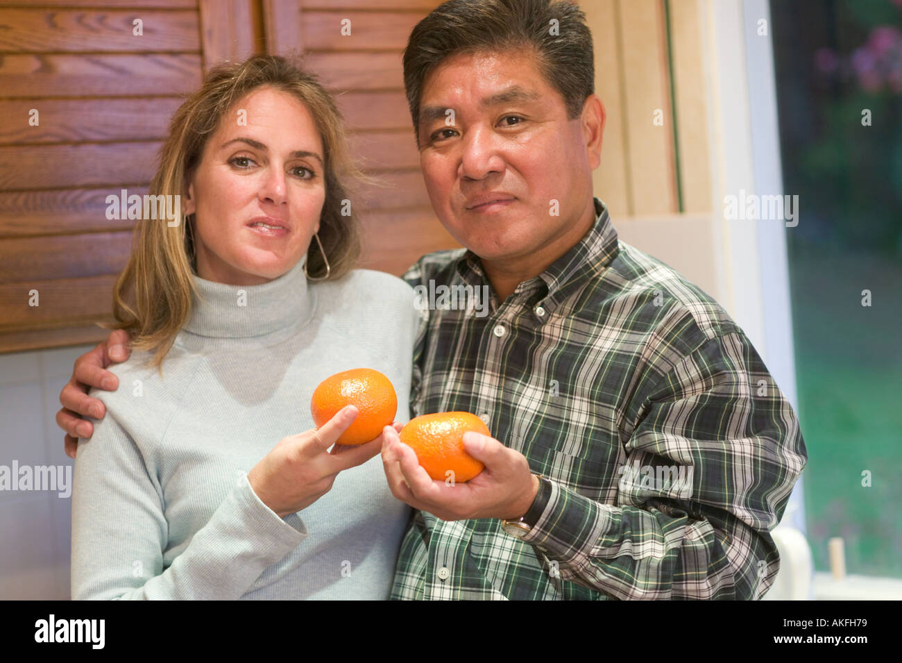 Asian caucasian couple you