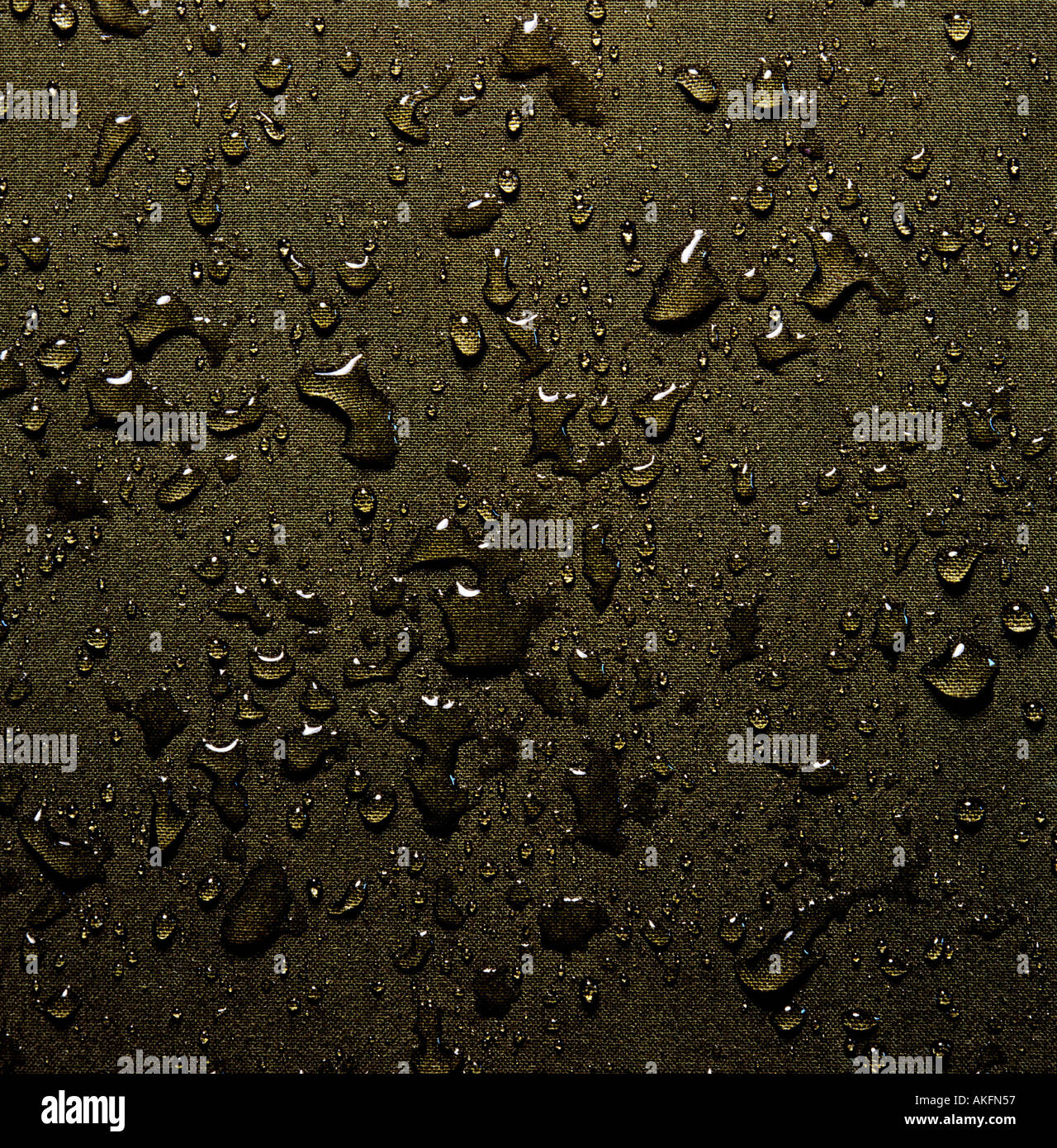 waterdrops on laminated pressboard - Stock Image