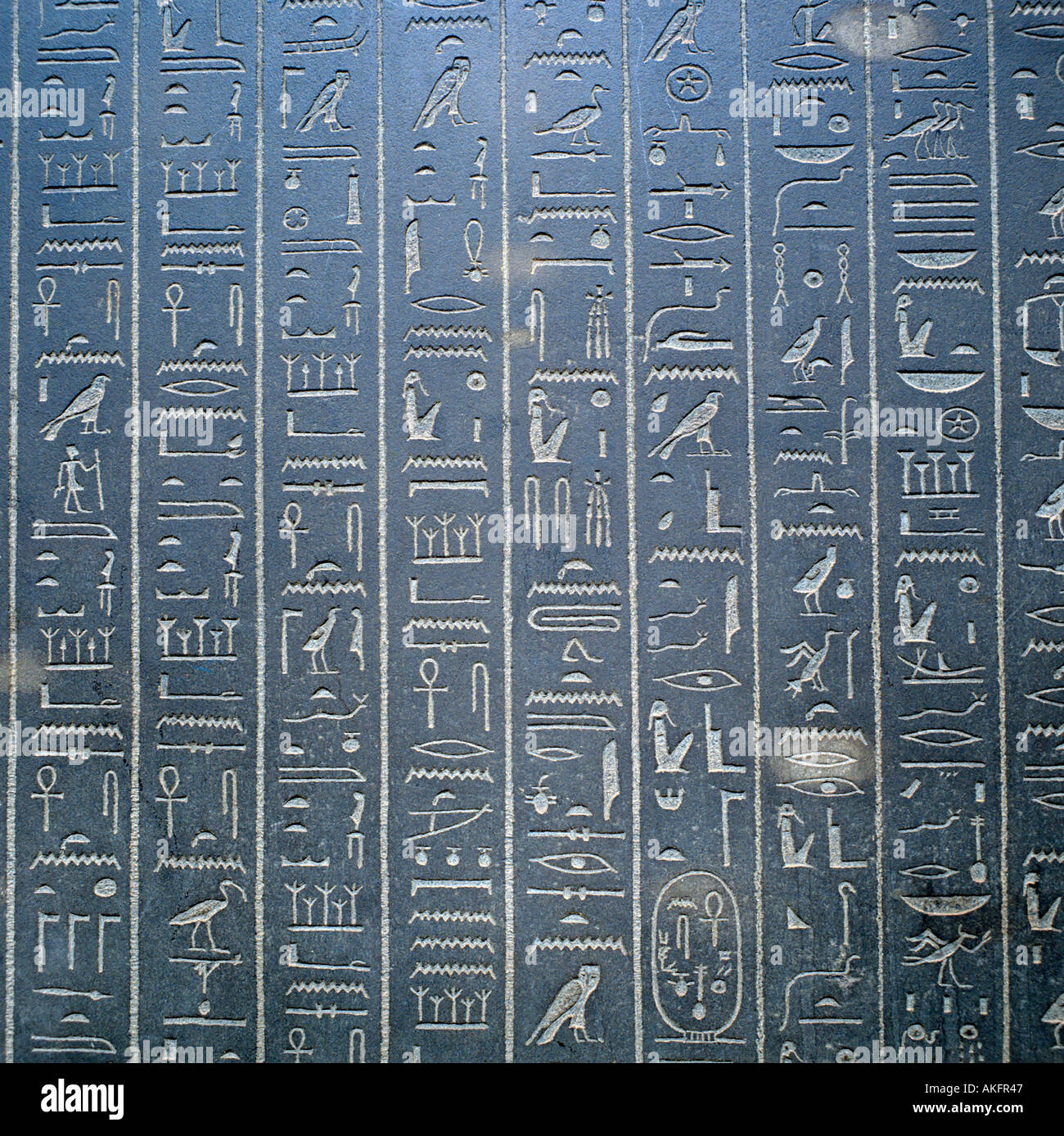 hieroglyphs from theben egyptian section british museum city of london england great britain editorial use only - Stock Image