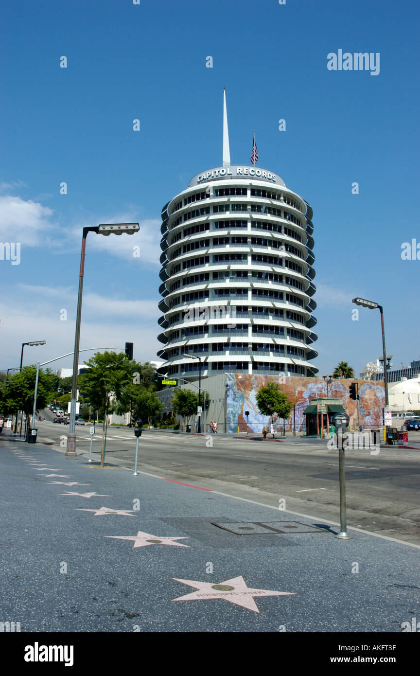 Hollywood Records: United Artists Building West Hollywood Stock Photos