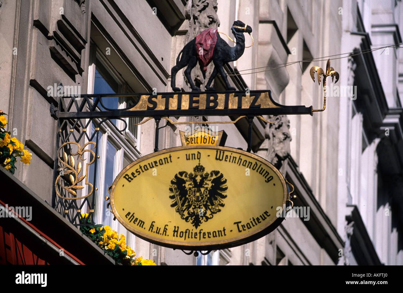 Österreich, Wien, Bognergasse 5,  Zum Schwarzen Kameel Stock Photo