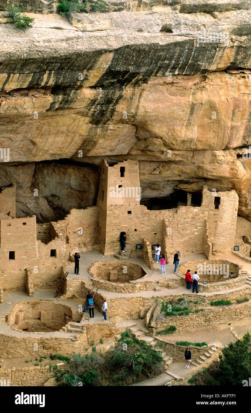USA, Colorado, Mesa Verde Nationalpark, Cliff Palace Stock Photo
