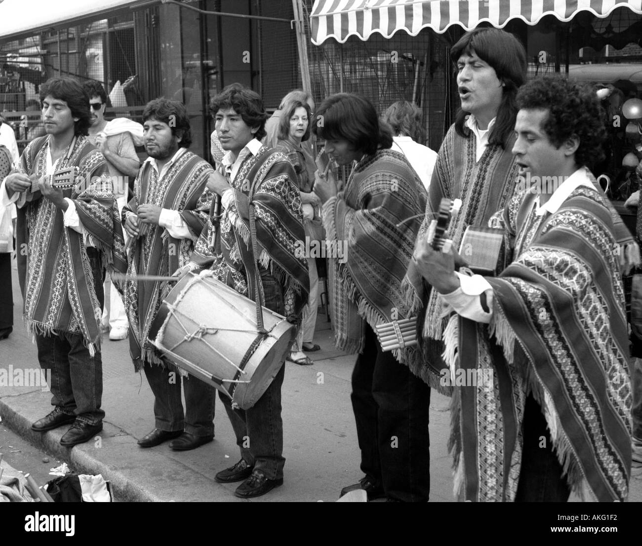 Chilean street musicians Notting Hill Carnival - Stock Image