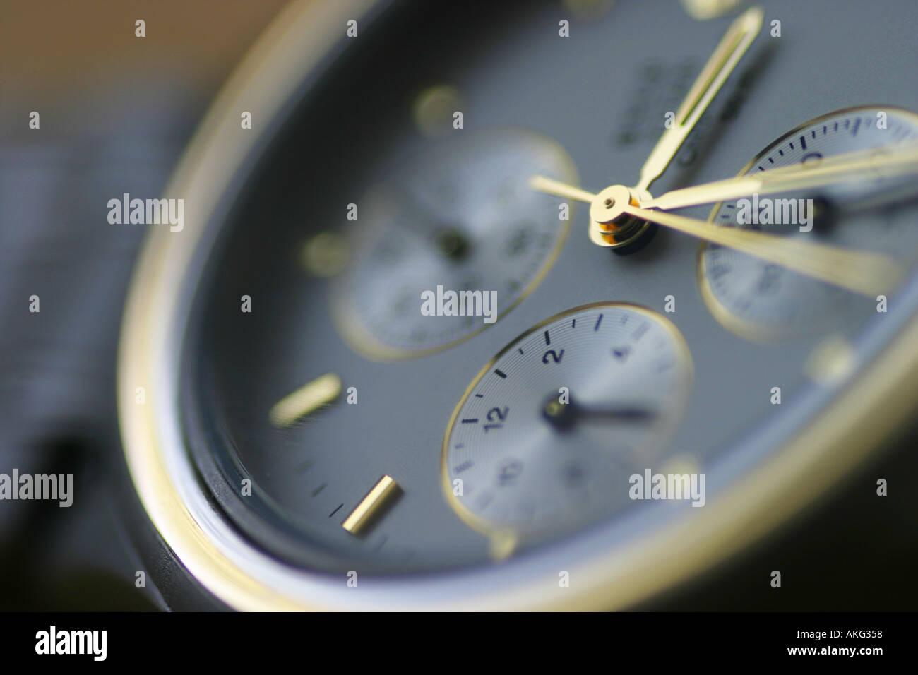watch alarm chroniker chronograph chronometer - Stock Image