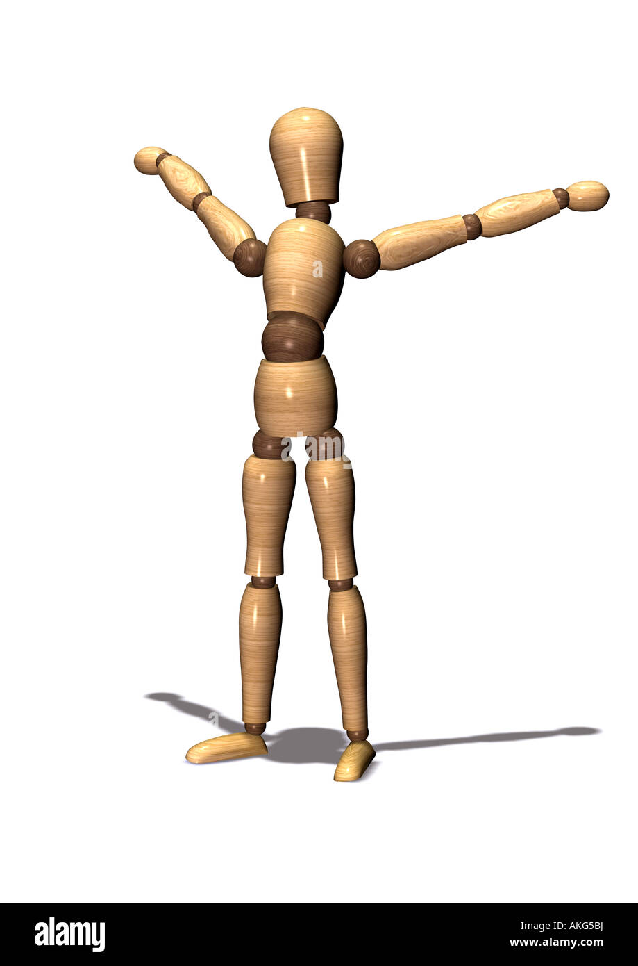 jointed doll Gliederpuppe - Stock Image