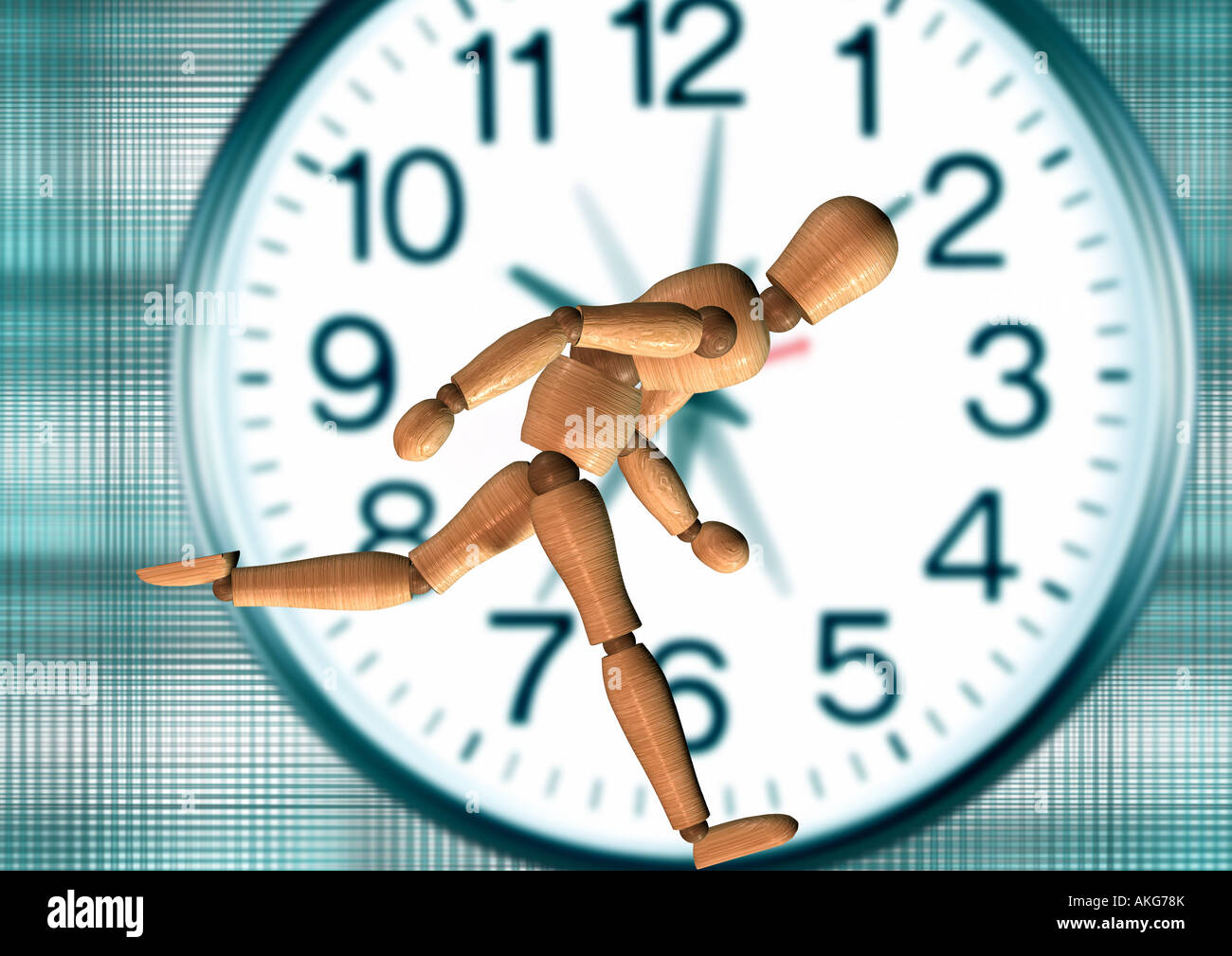 hurrying jointed doll eilende Gliederpuppe - Stock Image