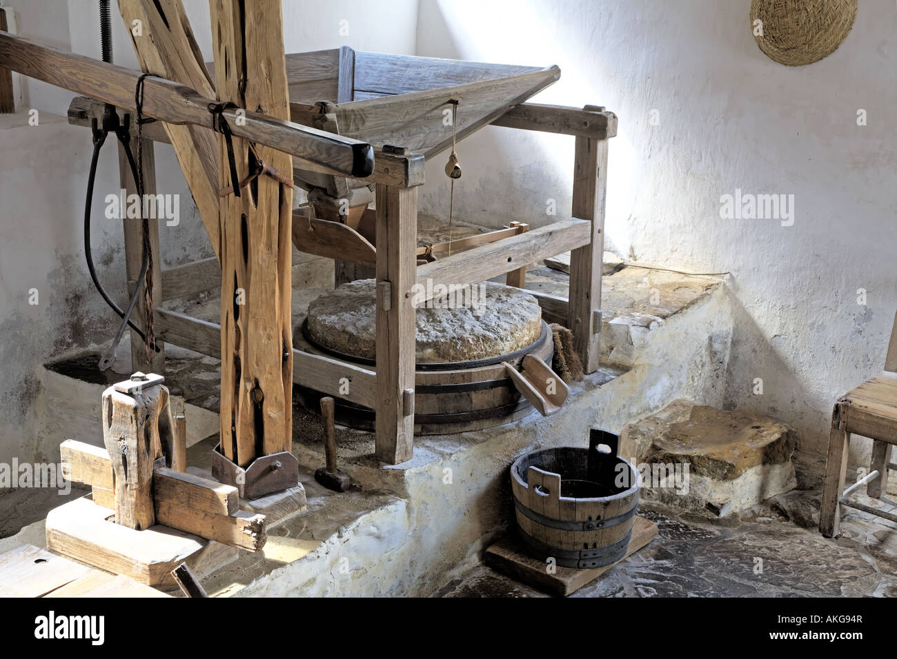 Grist Mill Flour Grind Stone 1700s In Old Spanish Mission Texas