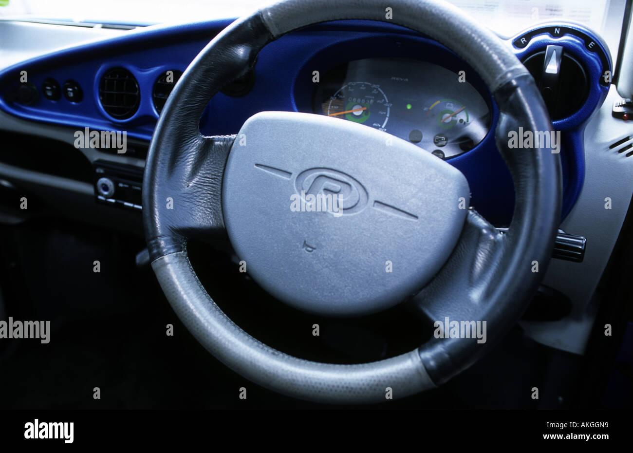dashboard of a reva g wiz electric car stock photo 8568920 alamy. Black Bedroom Furniture Sets. Home Design Ideas