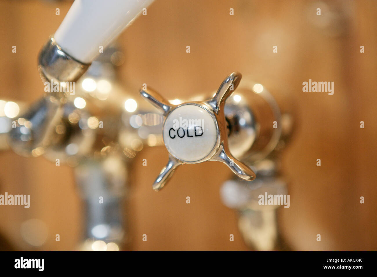 Cold water tap - Stock Image