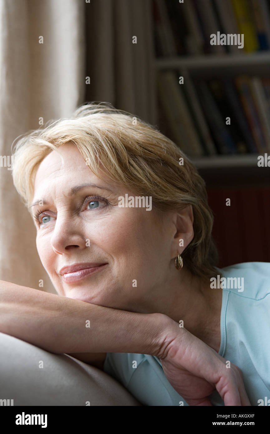Wistful woman - Stock Image