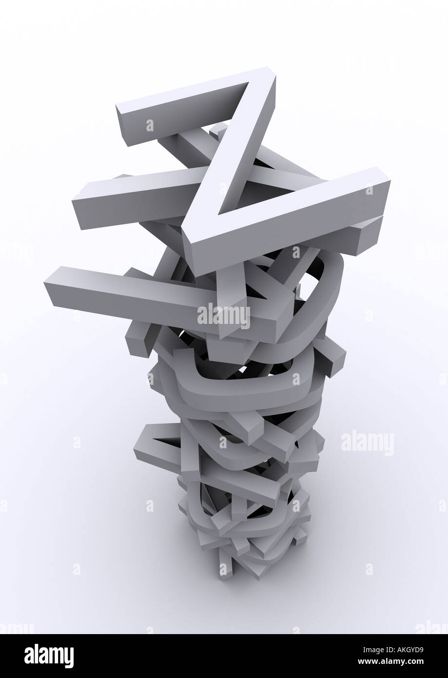 stack of letters - Stock Image