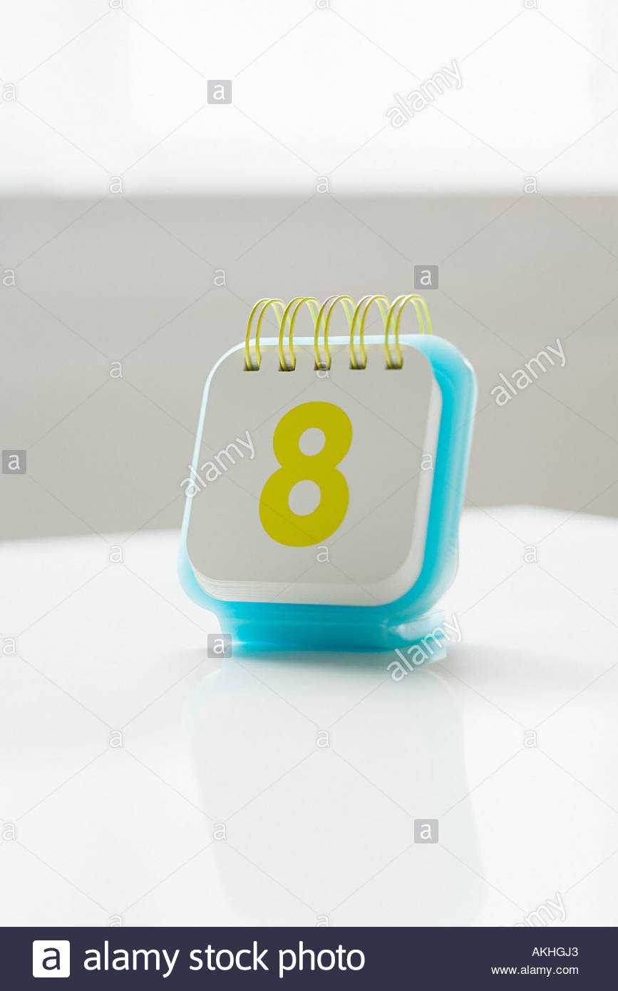 Day eight - Stock Image