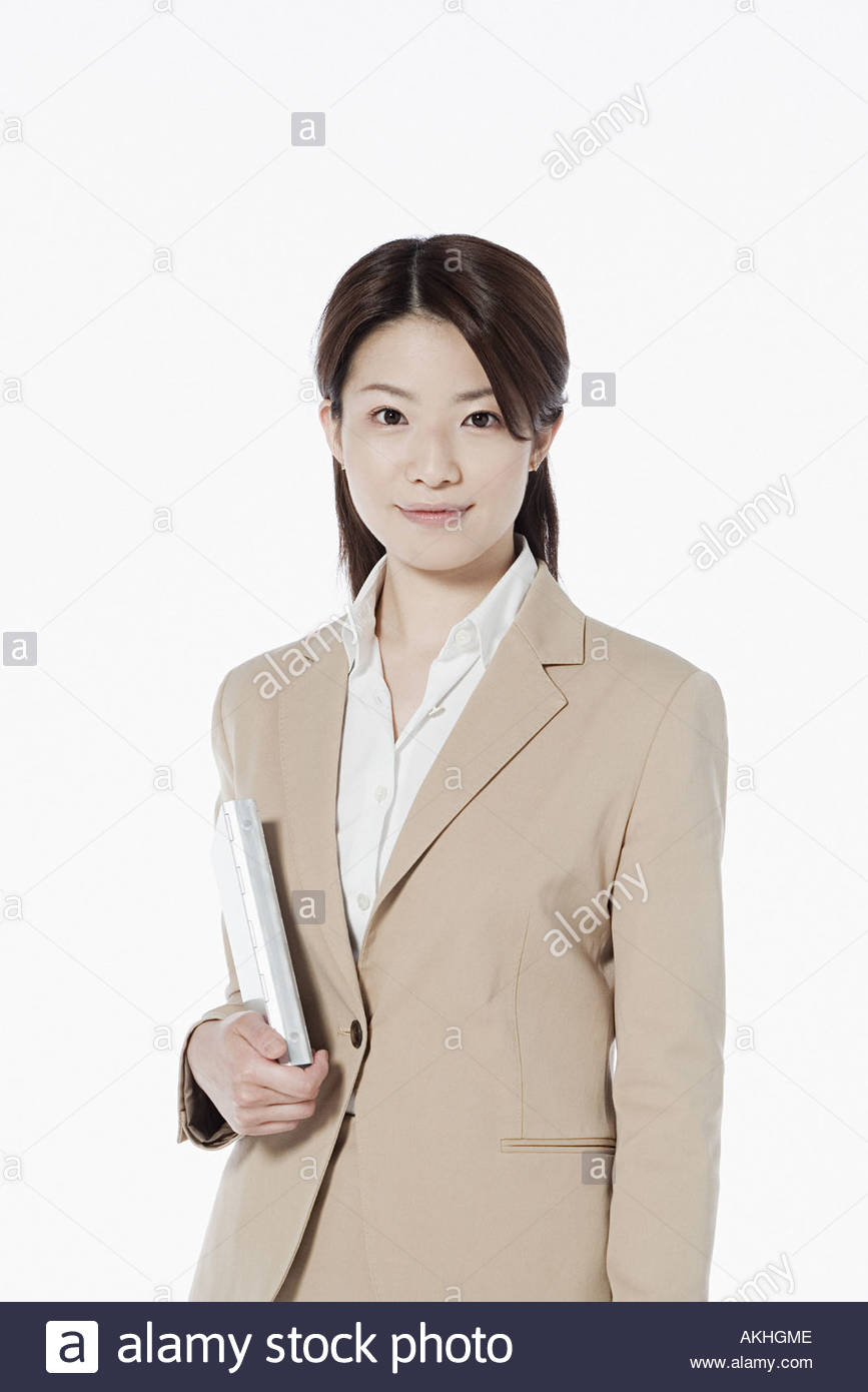 Businesswoman with personal organiser Stock Photo