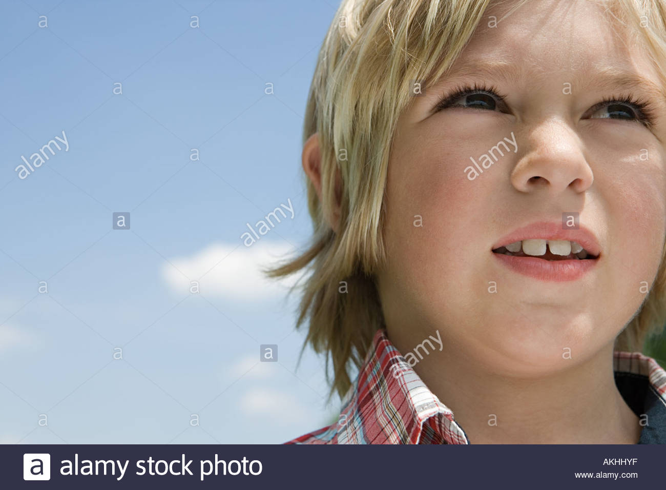 Boy against the sky - Stock Image