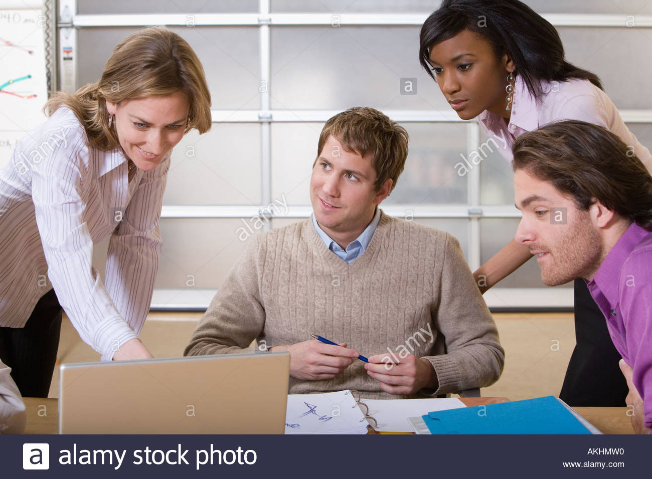 Colleagues working on project - Stock Image