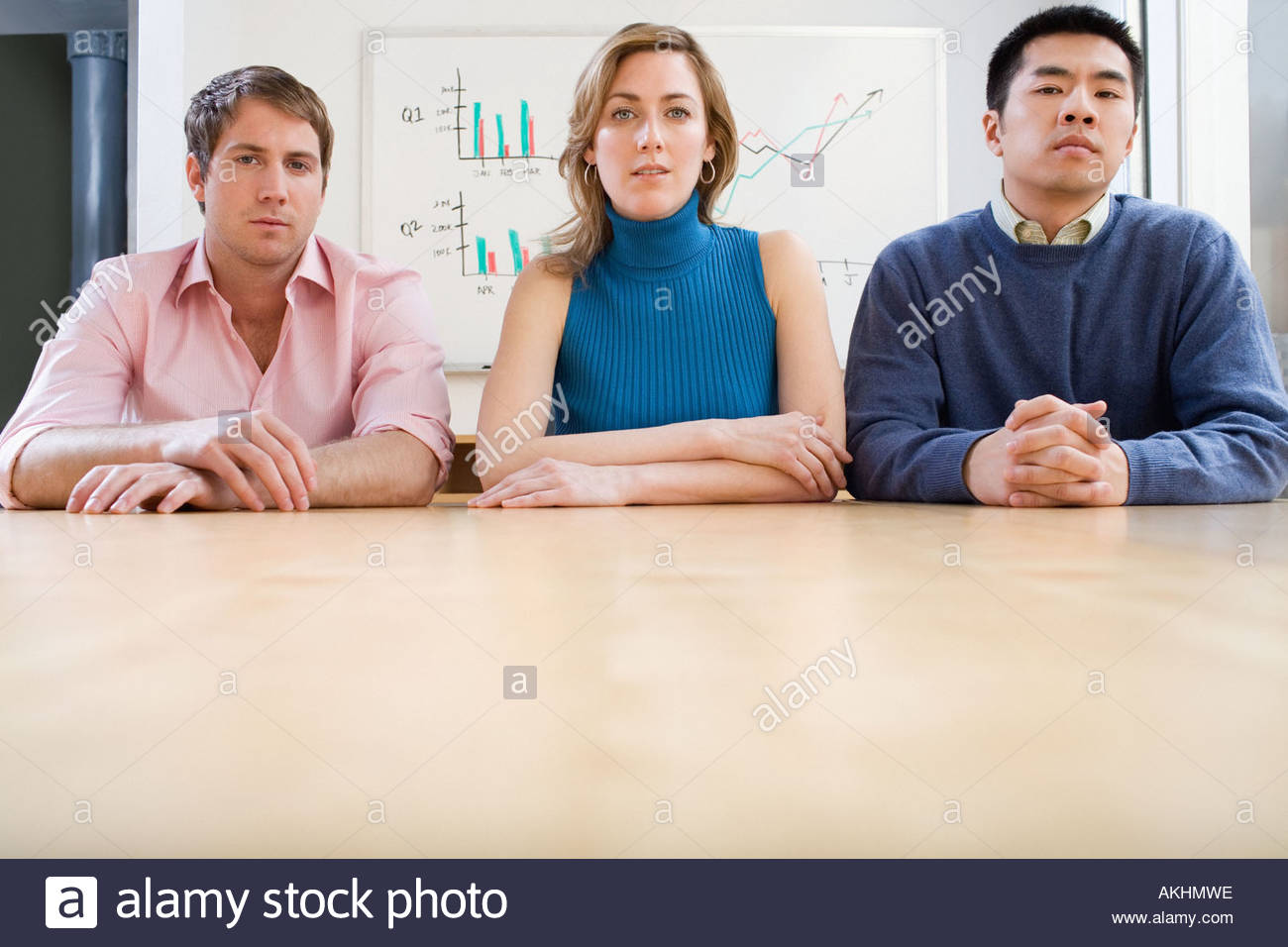 Serious colleagues - Stock Image