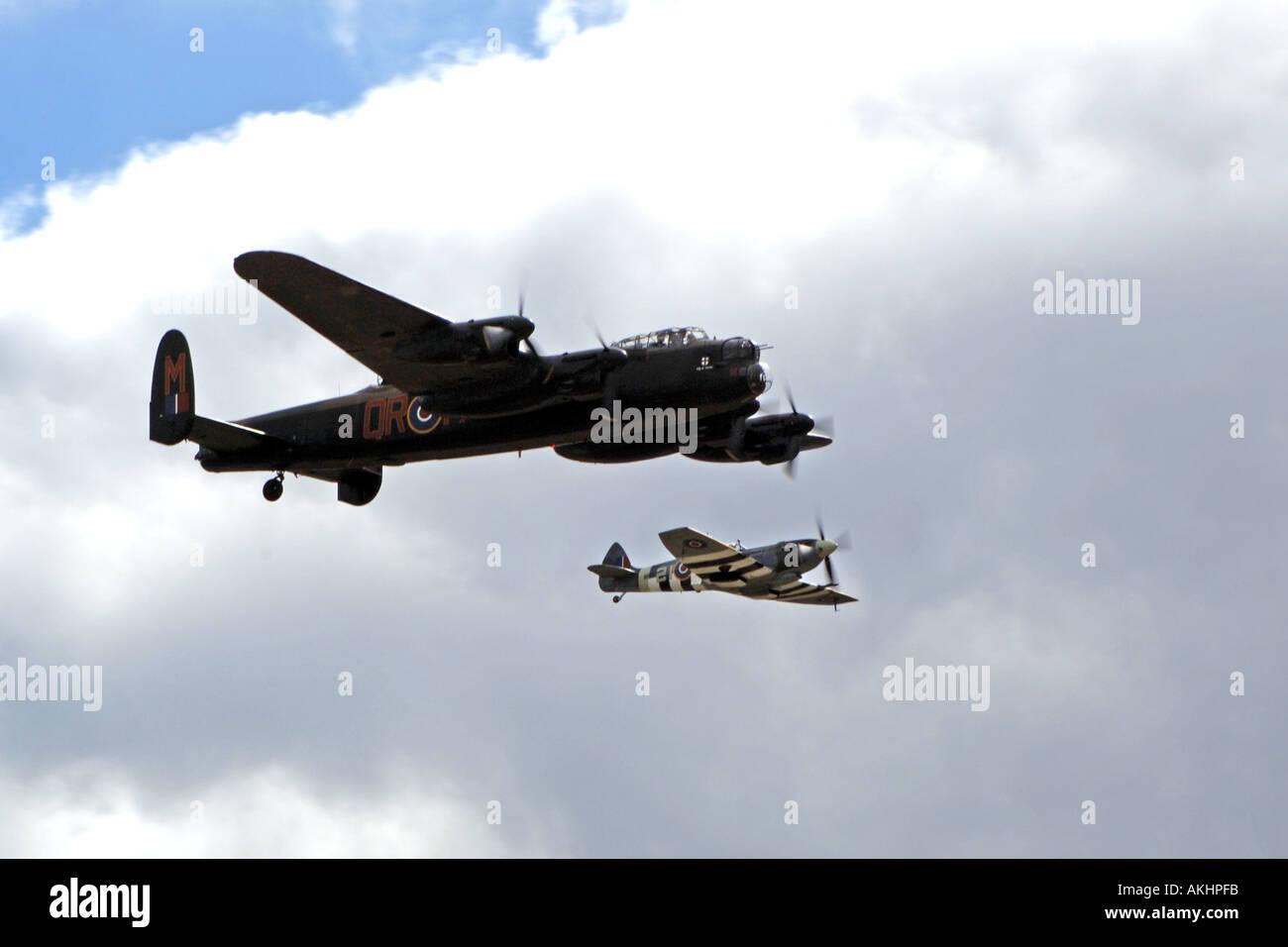 The RAF WW2 Battle of Britain memorial Flight. - Stock Image