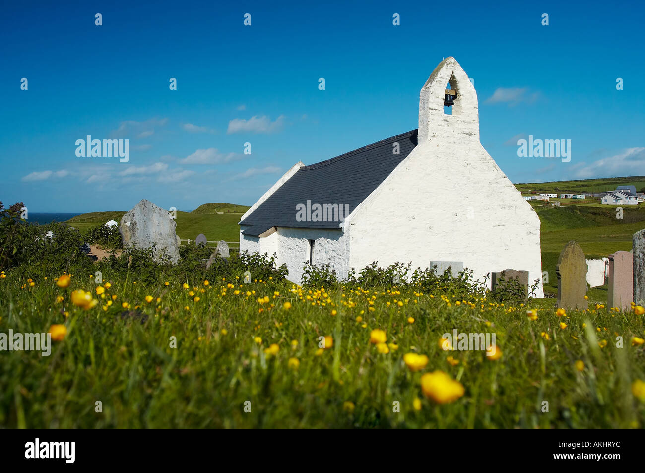 Mwnt Chapel in Cardiganshire - Stock Image