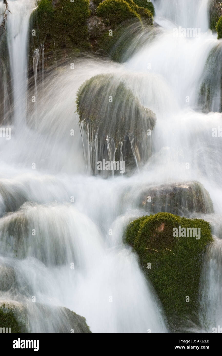 waterfall Hinterautal in Tyrol Austria - Stock Image