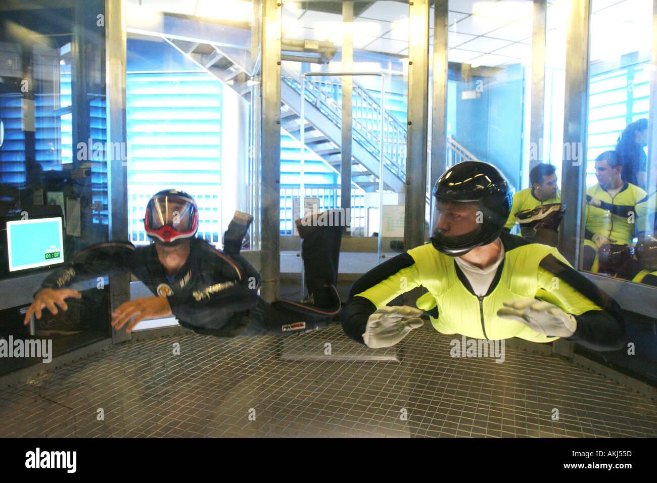 skyventure sky diving wind tunnel in orlando florida - Stock Image