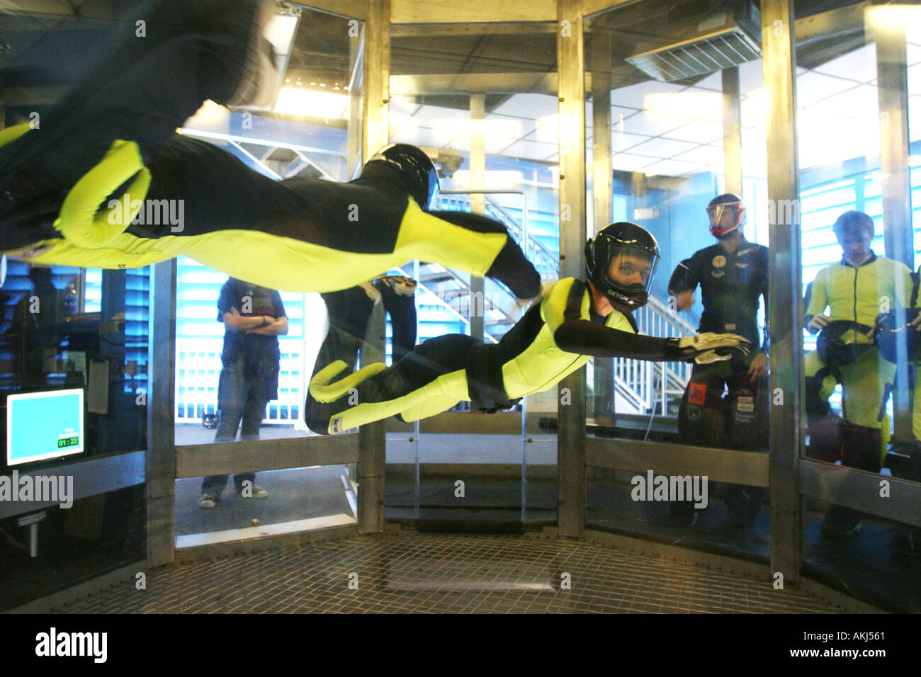 skyventure sky diving wind tunnel in orlando florida Stock Photo