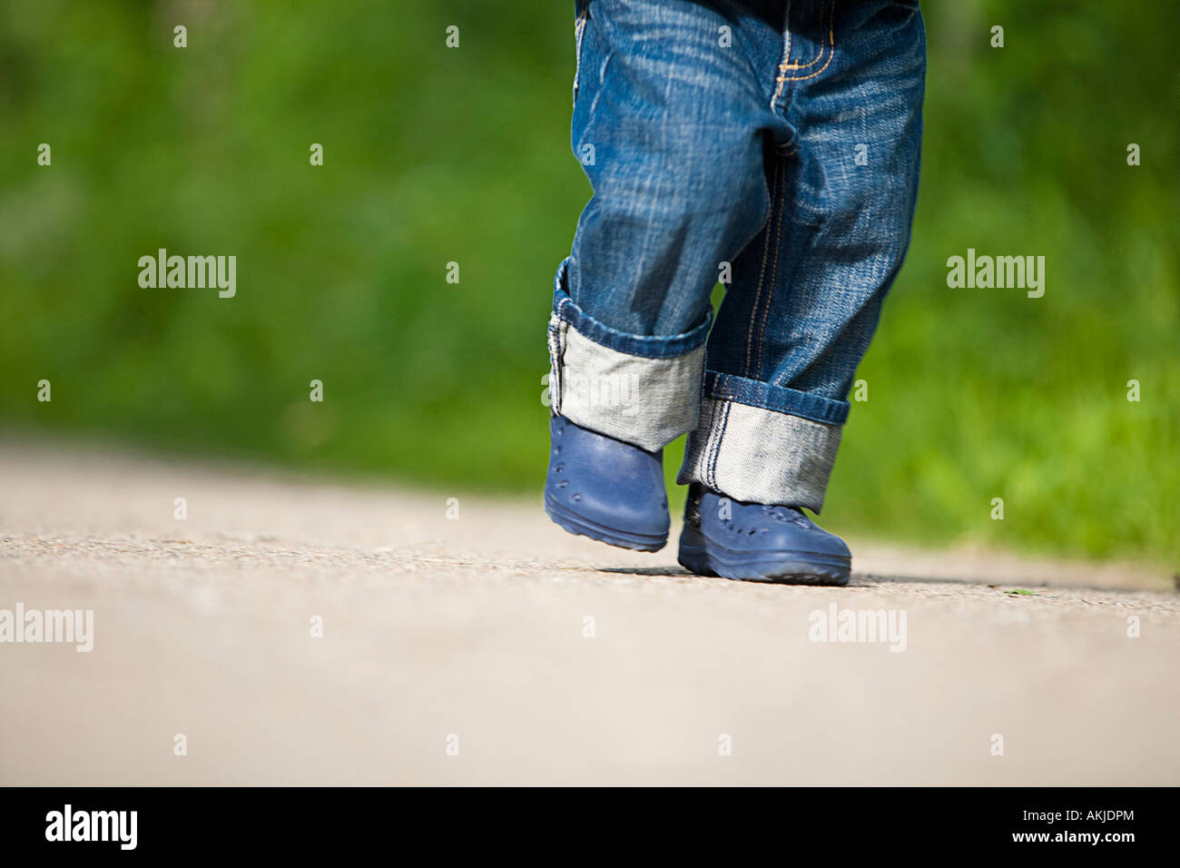 A child walking - Stock Image