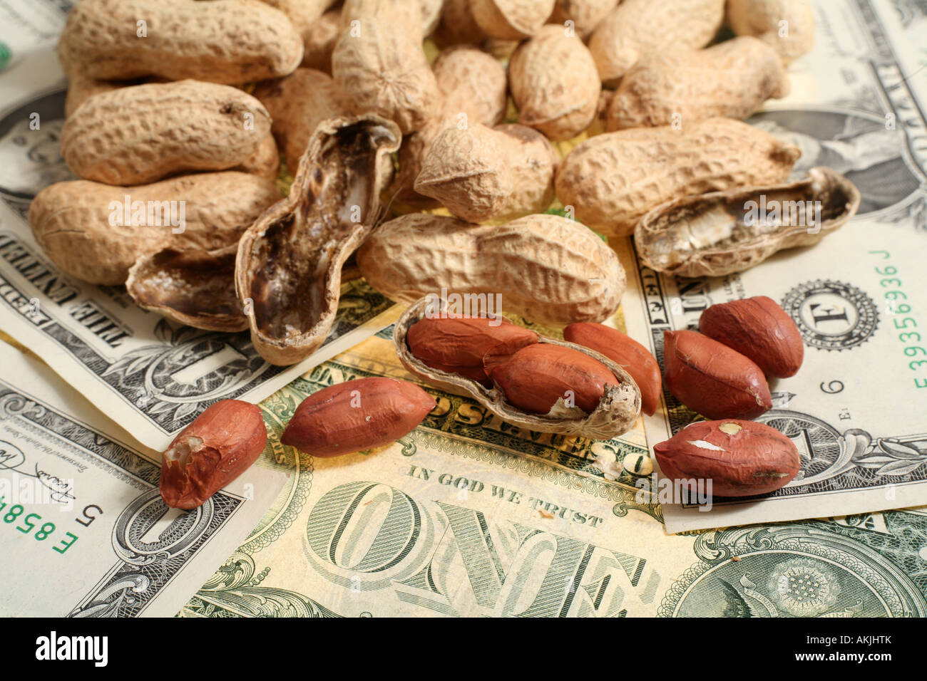 Are you working for peanuts That s what some companies offer Perhaps its time for another job or to go it alone Stock Photo