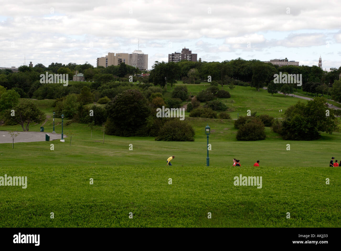 Plains of Abraham outside of the Citadel in Quebec City - Stock Image