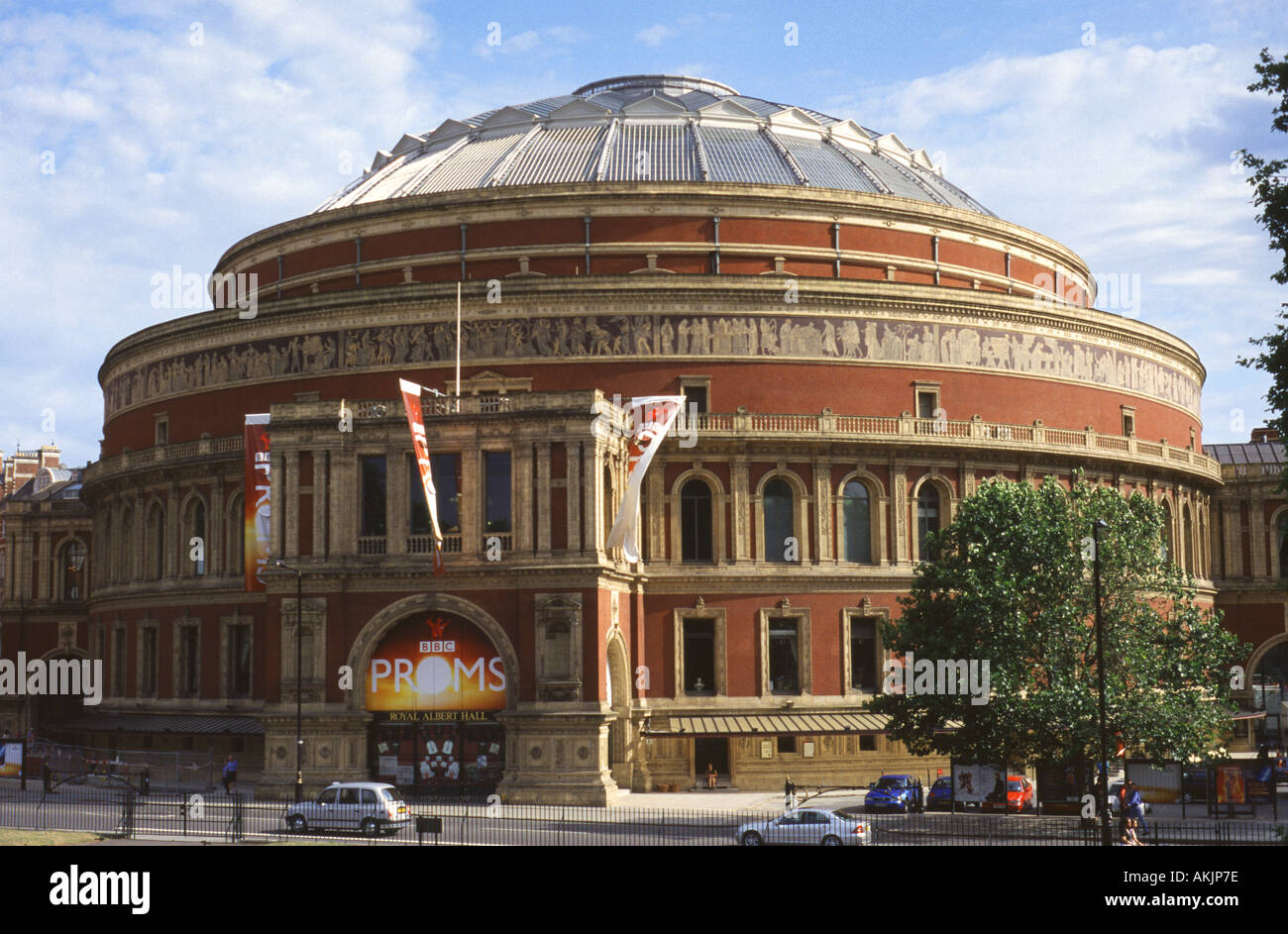 The Royal Albert Hall from the Albert Memorial, Kensington Gardens ...