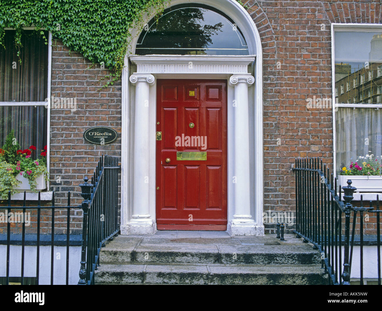 Georgian Style Front Door Of The Town House Dublin Ireland Stock Photo Alamy
