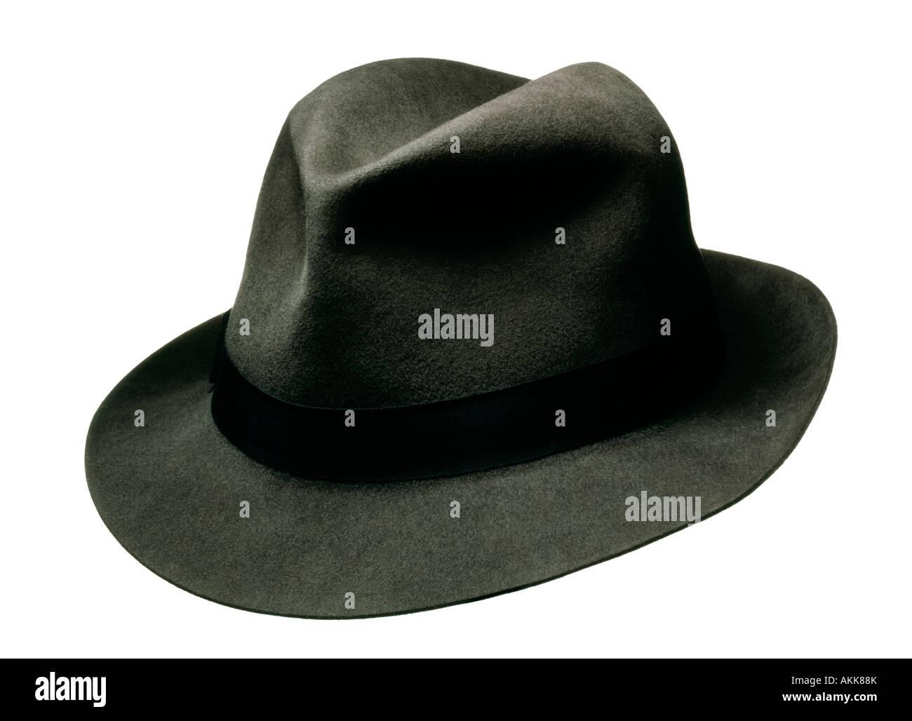 FELT TRILBY HAT SIMILAR AS WORN BY FRANK SINATRA - Stock Image