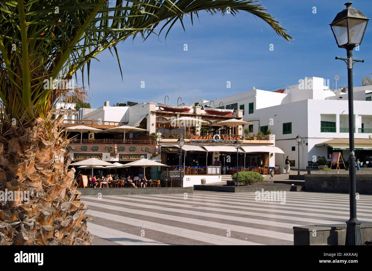 Puerto Del Carmen Old Town Lanzarote Stock Photo