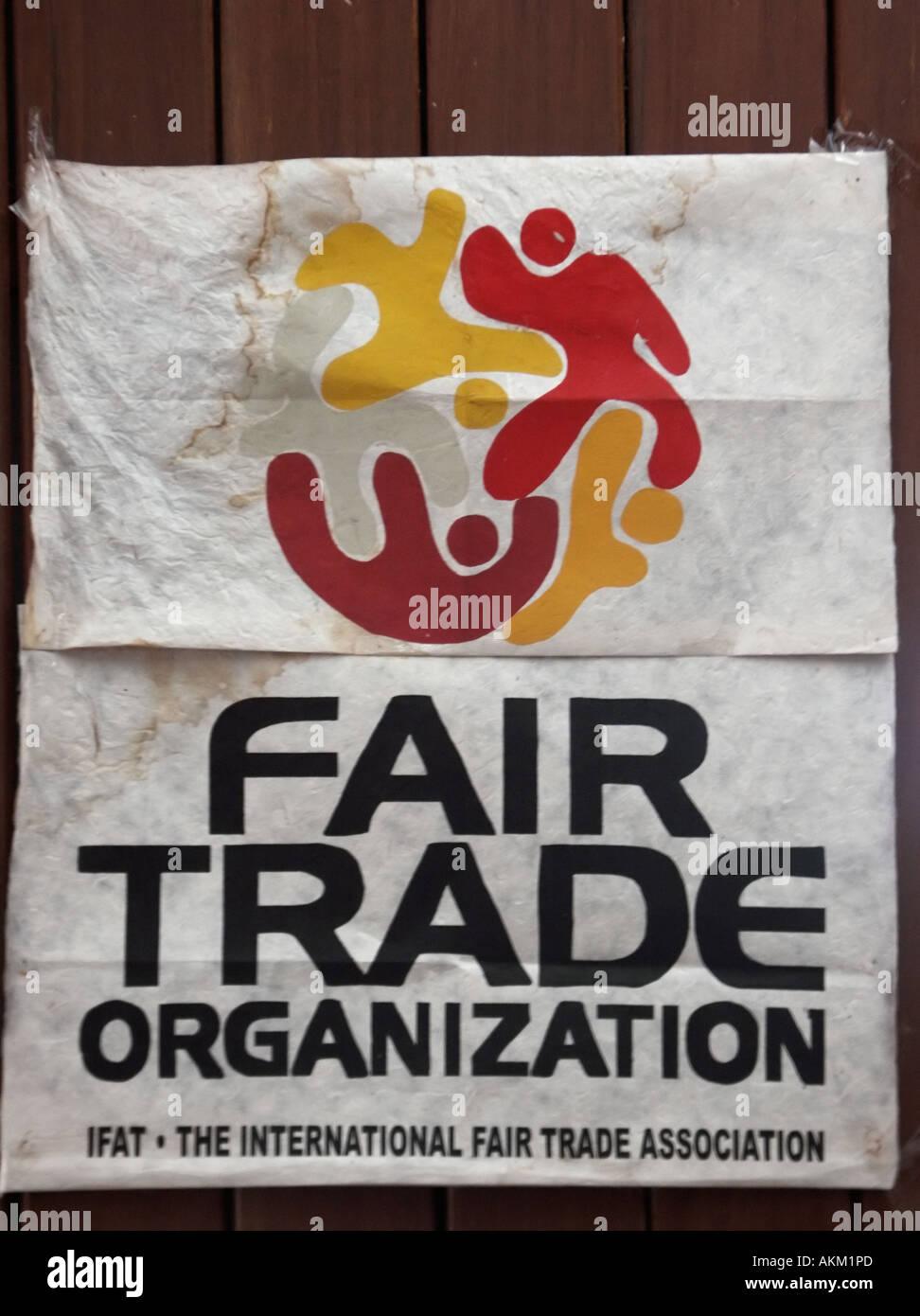 Fair Trade Organization Sign At Sipa Craftlink Fair Trade Handicraft