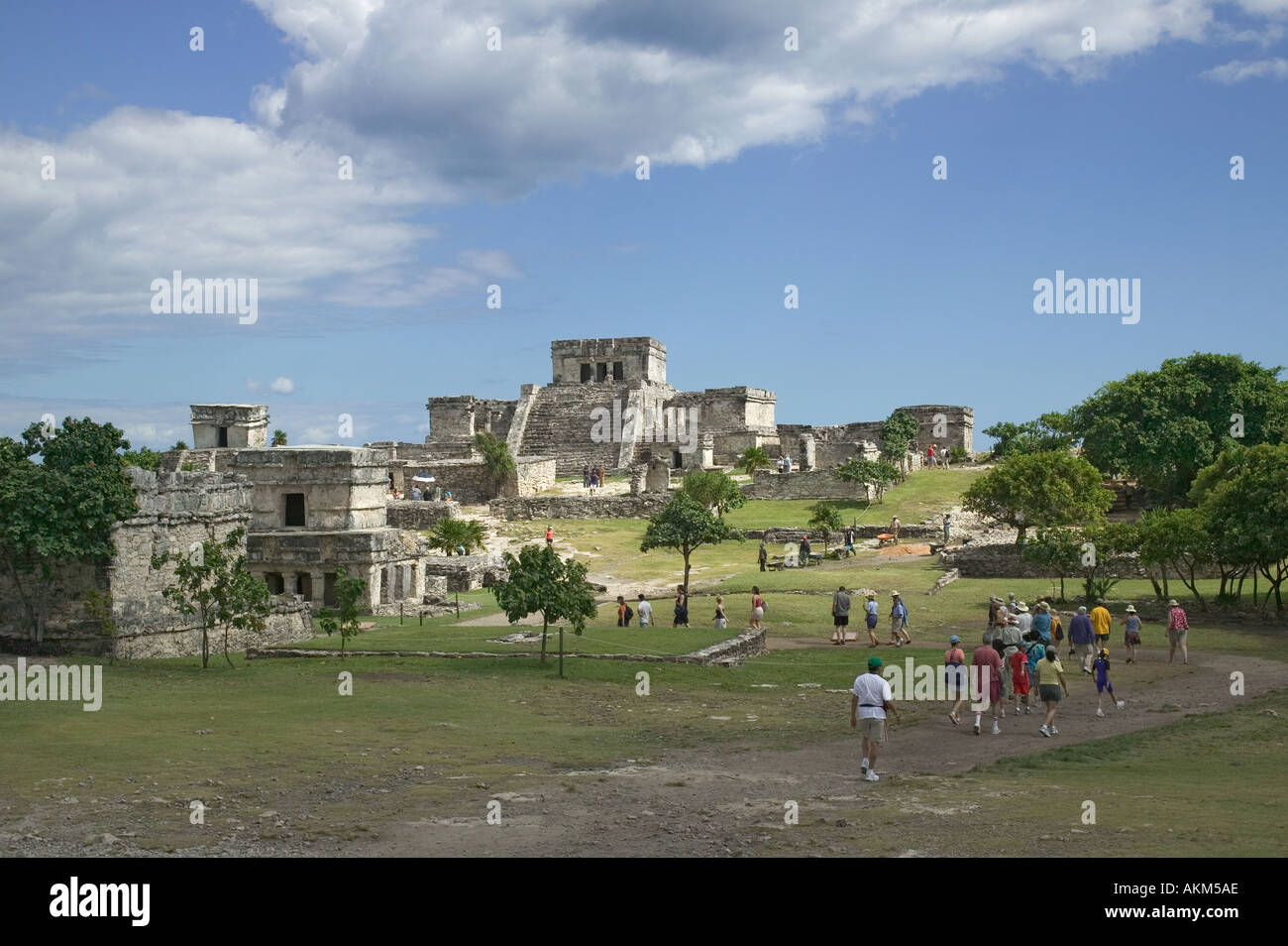 Mayan ruins Tulum Mexico - Stock Image