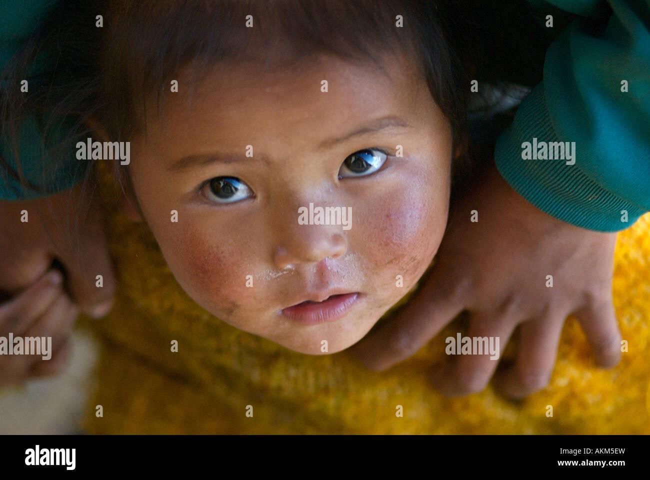 The upward gaze of a Tibetan youngster TibetStock Photo