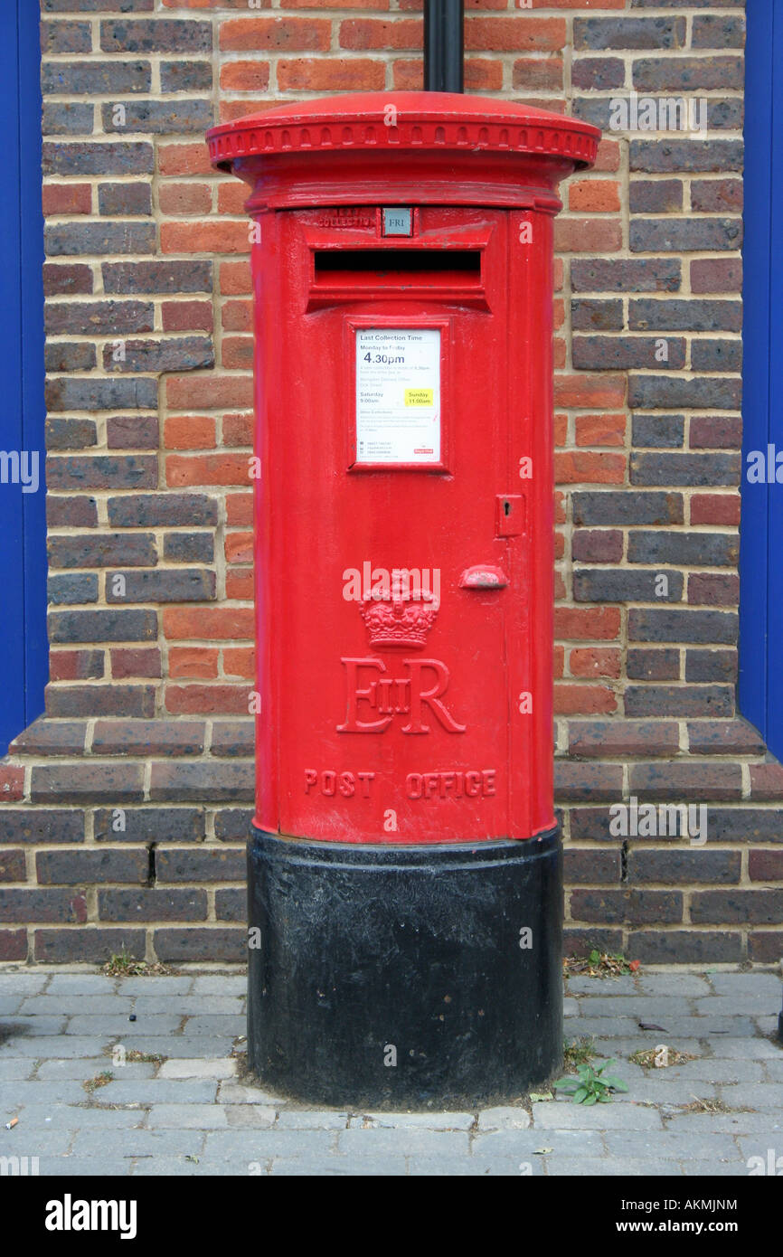Royal mail pillar box Stock Photo