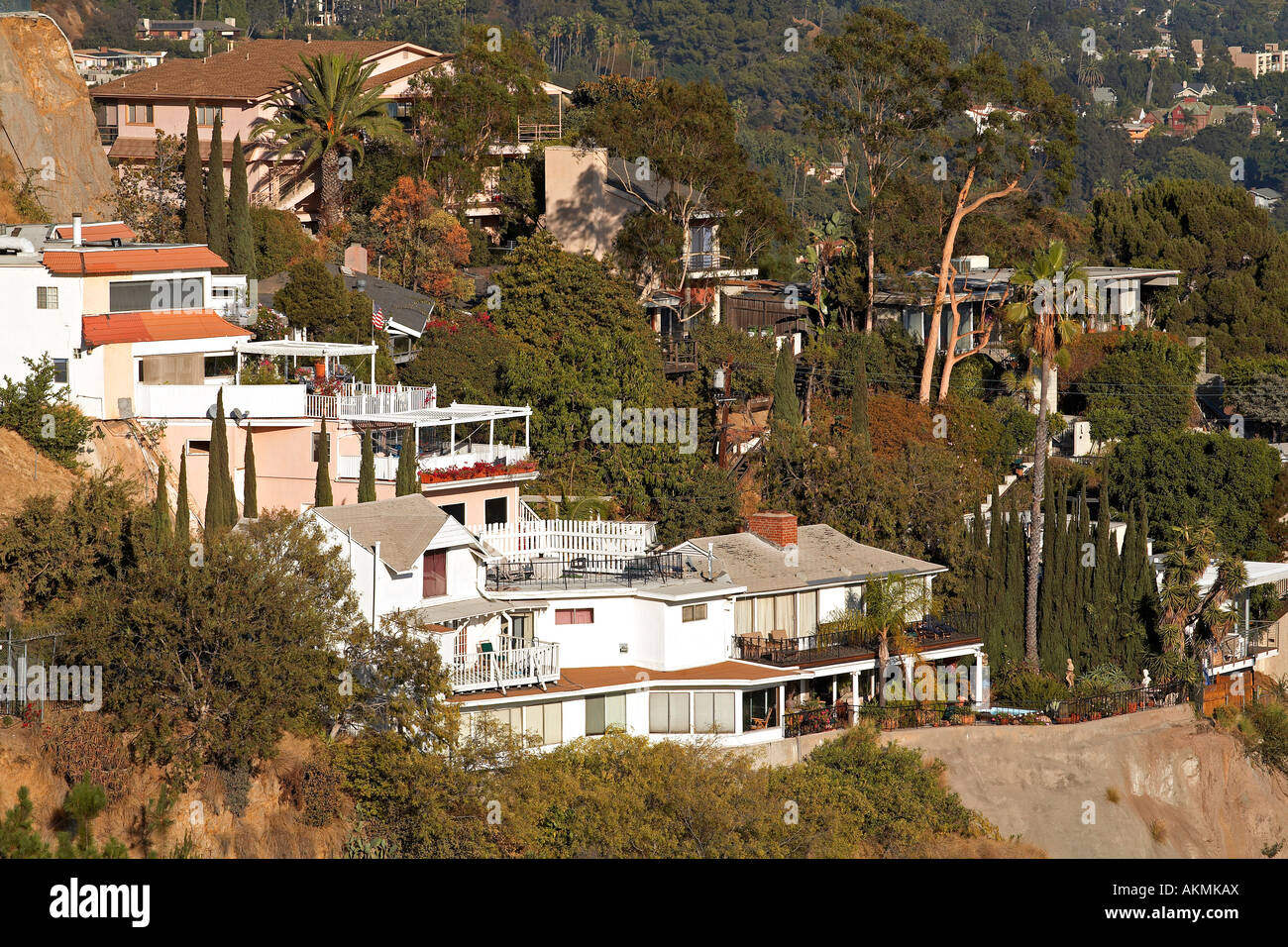 United States, California, Los Angeles, Luxury Homes In The Hollywood Hills