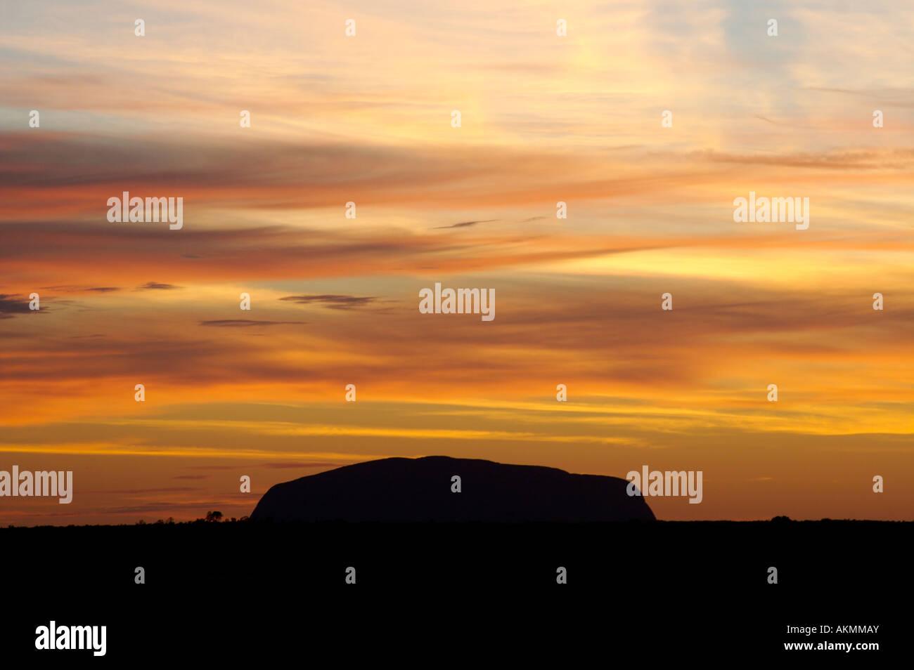 sunrise at uluru ayers rock australia - Stock Image